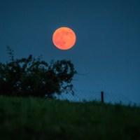 imagine cu Superluna 2013 in Romania