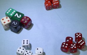 four groups of 5 dice each.