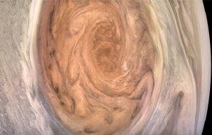 Swirling brownish image.
