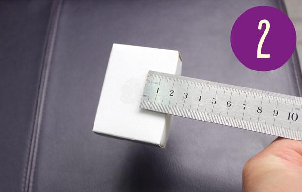 Matchbox drawer held onto ruler with Blue tac.