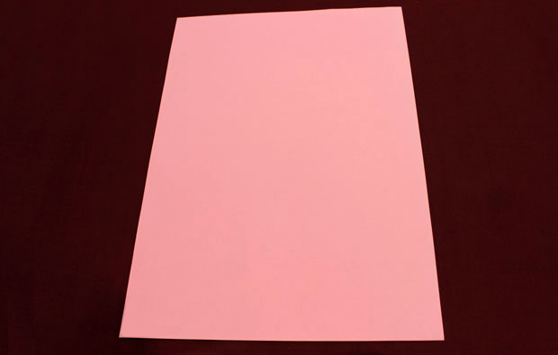 A pink piece of paper.