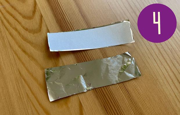 Cut a second piece of foil the same size.
