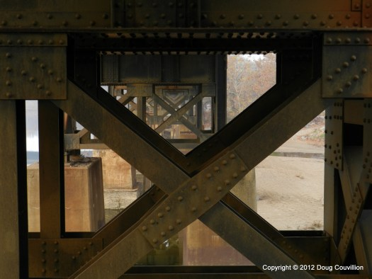 photograph of the steel support structure underneath a railroad bridge in Richmond, VA