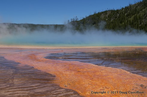 photograph of the Grand Prismatic Spring in Yellowstone National Park