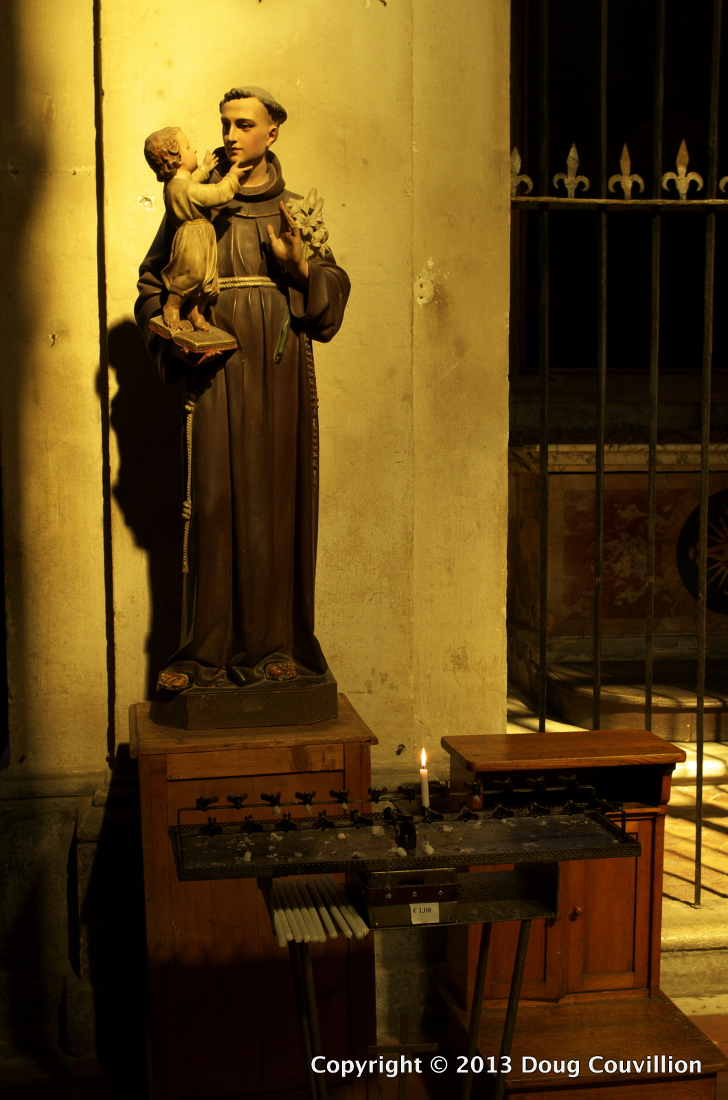 photograph of a shrine inside Santa Maria della Consolazione in Rome, Italy