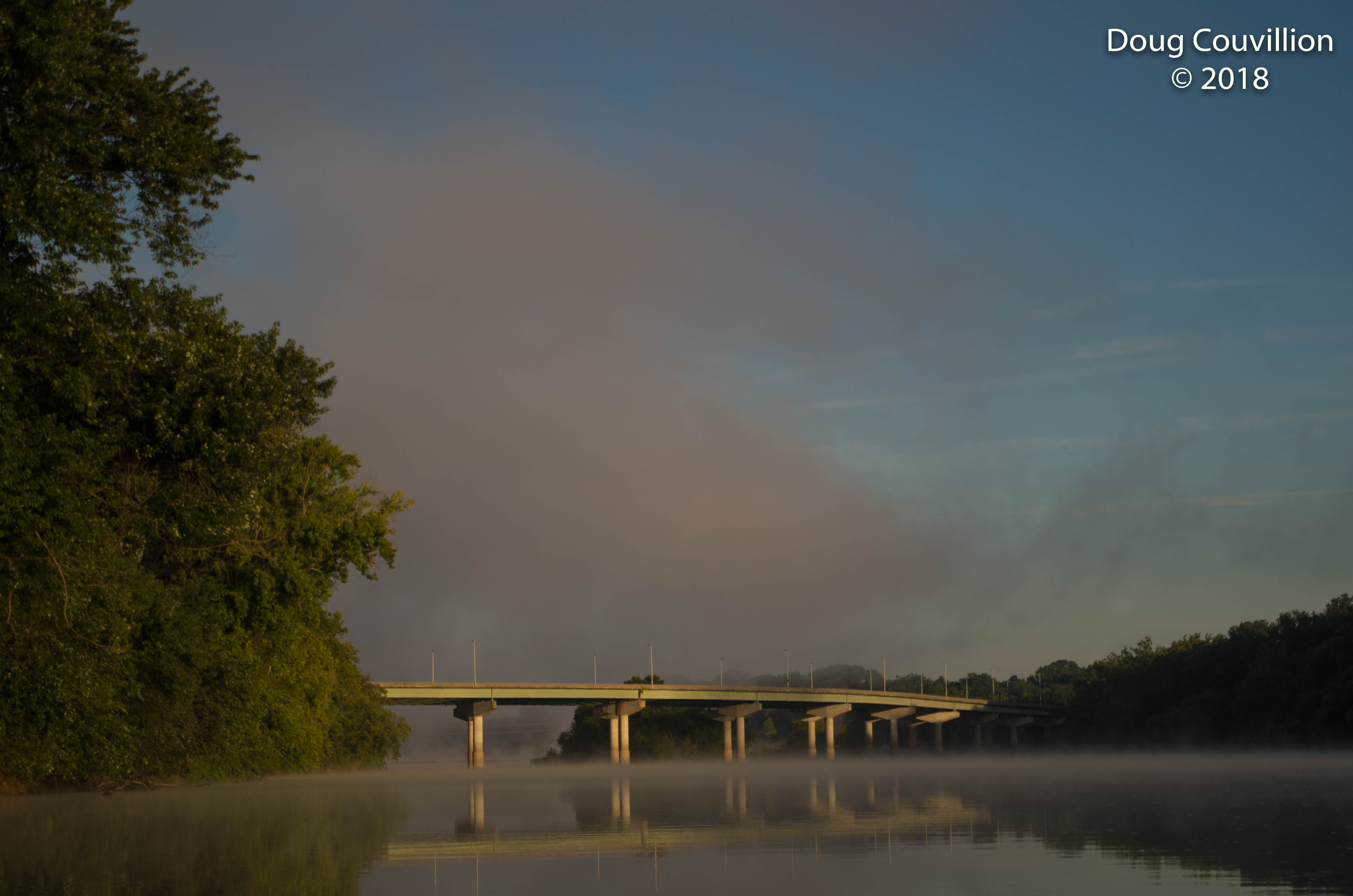 Photograph of the Edward E. Willey Bridge from the James River in Richmond, Virginia by Doug Couvillion