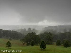 Photograph of rain in the Appalachian Mountains