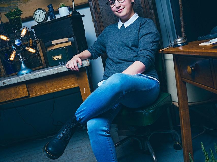 Photo of Tanysha Klassen, Psychology student, by David Denofreo