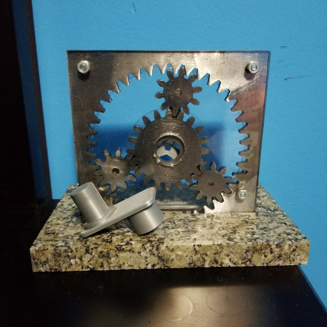 Planetary gear set made by Gurmaan Brar in engineering fabrication lab
