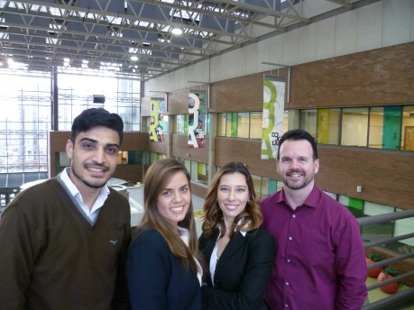 Students from Supply Chain Management pose for photo before competition