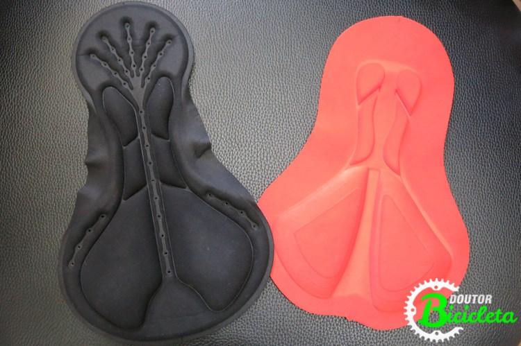 Modelos de forro/espuma utilizados na confecção das bermudas.