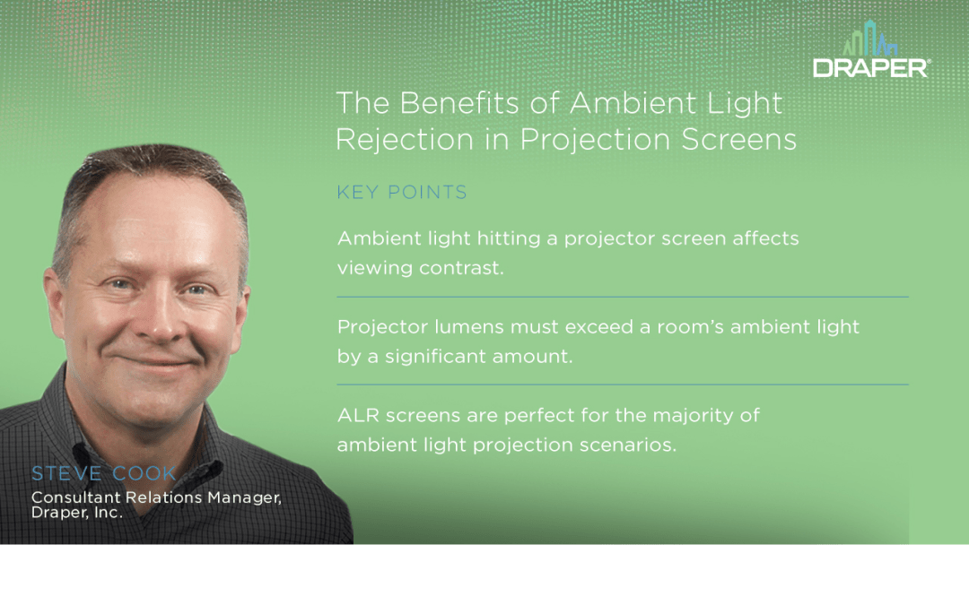 Engineering Value Ep.7: The Benefits of Ambient Light Rejection in Projection Screens