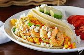 Catalina Shrimp Tacos with Cotija Cheese