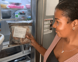 Mom Taking Dream Dinners Out of the Fridge