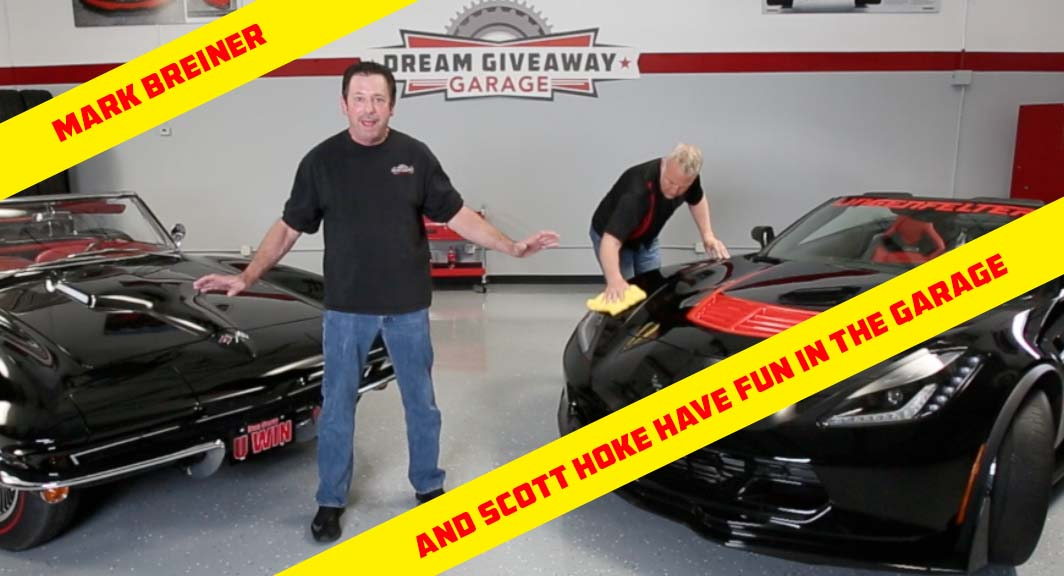 Having fun in the Dream Giveaway Garage