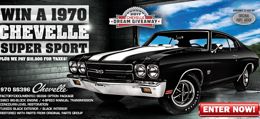 New Dream Giveaway®: Score a one-of-a-kind special Chevy Chevelle SS396