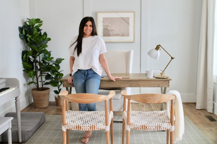 Drees Homeowner Spotlight: Hannah French, Founder and Creative Director at The Highpoint House, in her home office