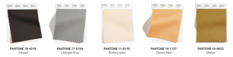 Pantone's core collection for the spring/summer of 2021