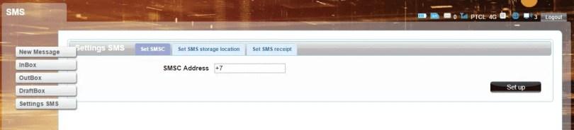 R600A SMS Settings