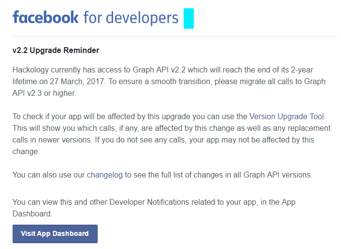 Facebook Developer Email