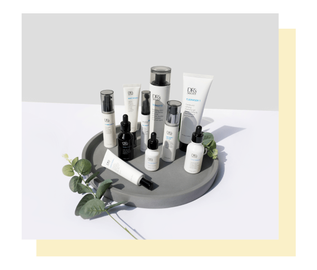 Korean skin care and drs secret