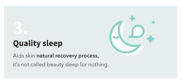 Quality sleep for glowing skin