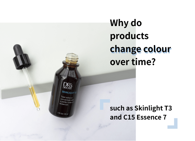 Why do products change color over time