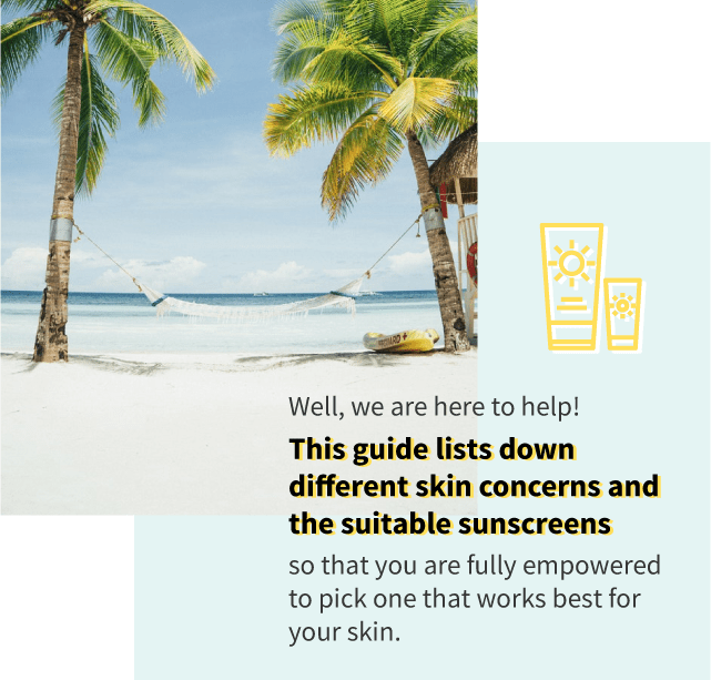 Sunscreen for different skin concerns guide