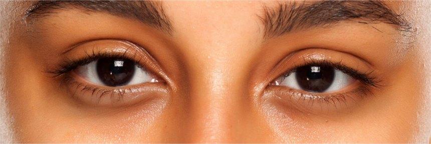 Darker skin tone eye area