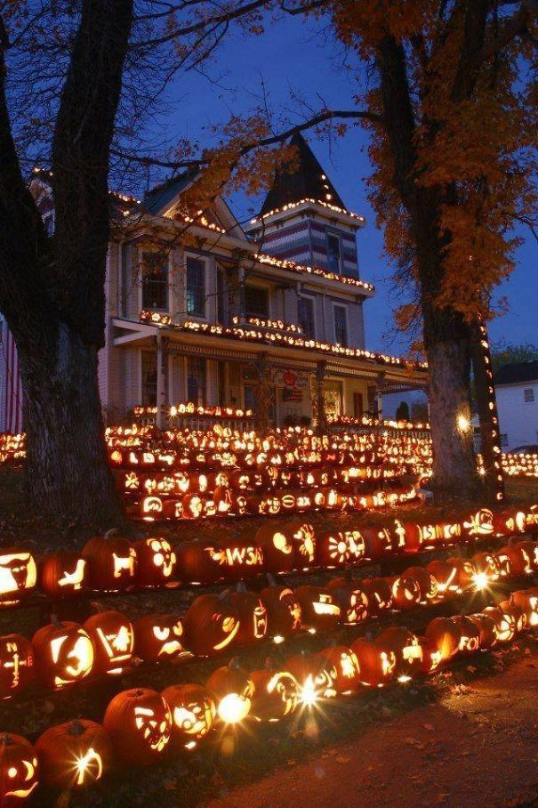 pompoenen huis halloween