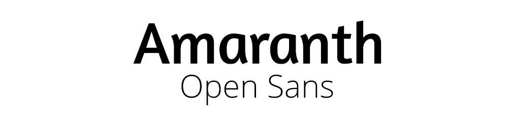 lettertype combinatie-amaranth-open-sans