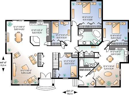 wwwdrummondhouseplanscom multigenerational floor plan no 2278 mail level Home Building Plans