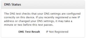 DNS Status: not set
