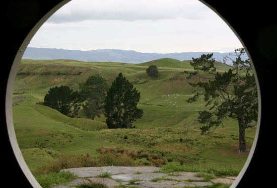 The view from inside Bag End. (Photo by Kathleen Wile)