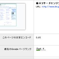 PageRank(ページランク)更新とアクセス解析Urchin