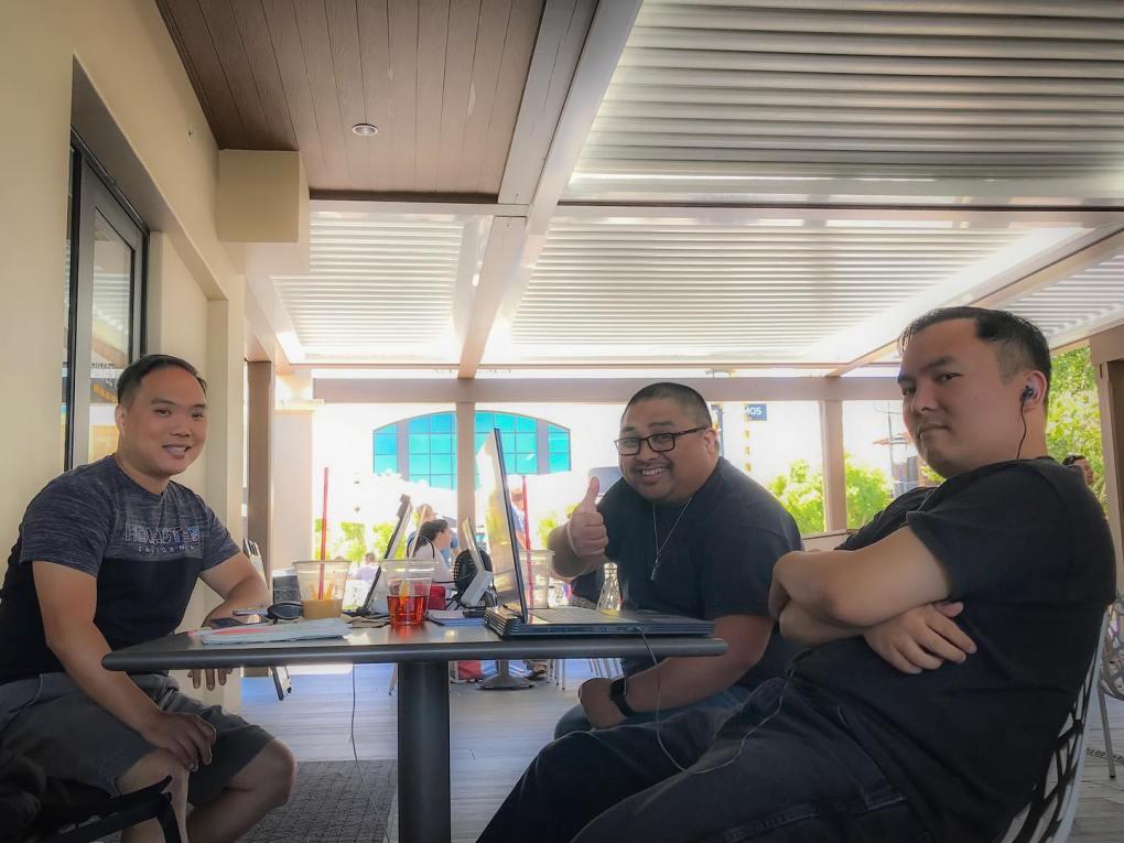 Duane, Gabe, Derrick at Veranda on 20190630