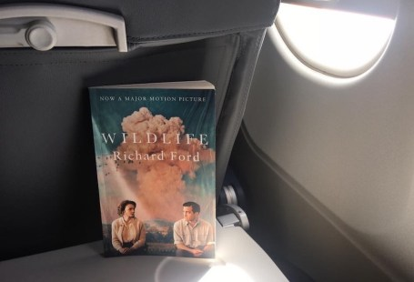Wildlife by Richard Ford on an airplane table