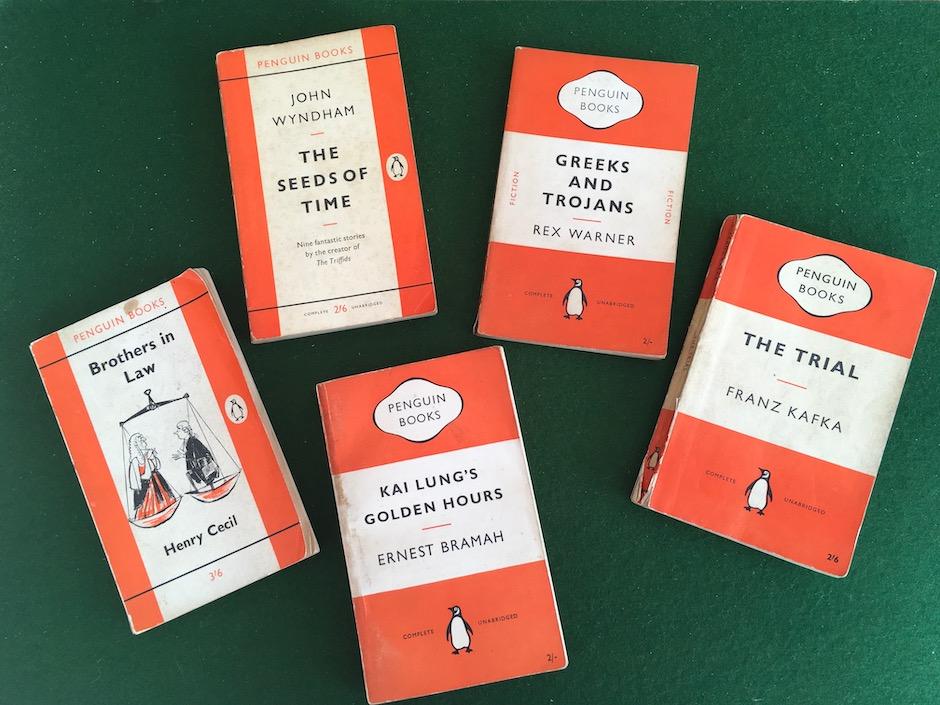 Classic Penguin paperbacks