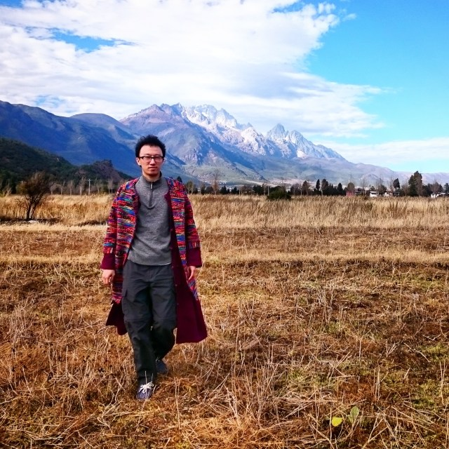 Pretending to be a model in LiJiang