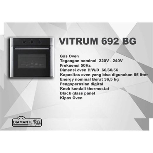 Diamante oven electric vitrum 692 BG via duniamasak