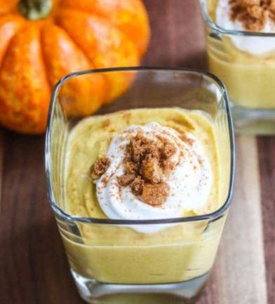 Makanan Manis Berbahan Kunyit Pumpkin coconut turmeric mousse via jeanetteshealthyliving.com ala tim duniamasak.com