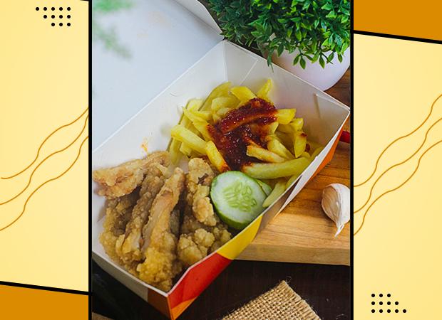 Steak Ayam Kribo Spicy Korea dengan Kentang Goreng dok. duniamasak