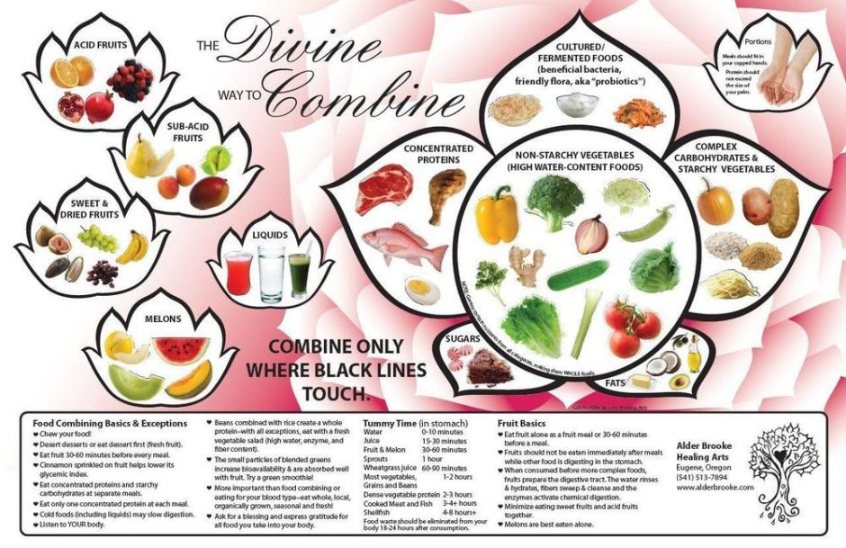 Food combining diet via mayanovak.com ala duniamasak