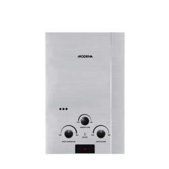 Beli  Gas Water Heater MODENA RAPIDO INOX GI 6 S water heater terbaik di duniamasak.com