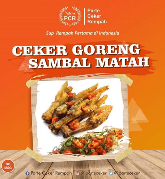 tempat makan artis 2019 Parte Ceker Rempah sule via instagram.com/parteceker ala duniamasak