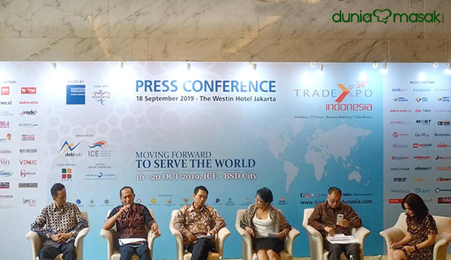 Trade Expo Indonesia 2019 press conference dok. duniamasak