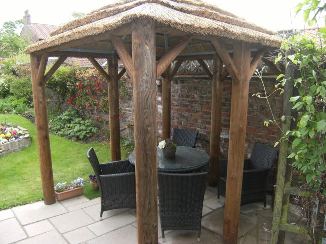 Thatched Gazebo Abisa  Dunster House