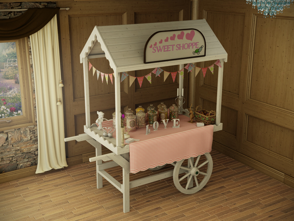 Sophie Victorian Candy Cart Dunster House