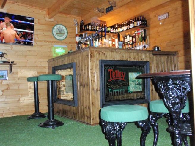 ManCave Log Cabi Interior Dunster House