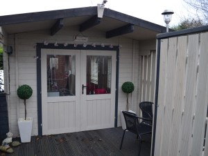Case Study Avon Log Cabin Exterior Dunster House